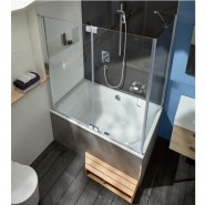 Панель фронтальная + панель боковая для ванны 120/140 см Jacob Delafone Capsule, E6D133-D27, , 51 541 руб., E6D133-D27, Jacob Delafone, Комплектующие для ванн