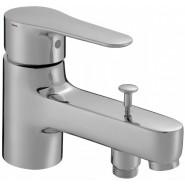 Смеситель для ванны и душа Jacob Delafon July, 139 мм, E16044-4-CP, , 12 039 руб., E16044-4-CP, Jacob Delafone, Смесители на борт ванны