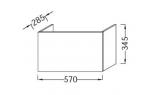 Основа для шкафчика Jacob Delafone Odeon Up, 570х285 мм, EB848-M1