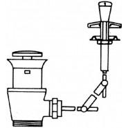 Донный клапан Jacob Delafone Out Of Collection, E78225-CP, , 4 057 руб., E78225-CP, Jacob Delafone, Комплектующие для смесителей