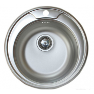 Мойка кухонная врезная Kromrus, 490х490 мм, 26933, , 742 руб., 26933, Kromrus, Мойки из нержавеющей стали