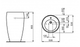 Раковина с пьедесталом LAUFEN ALESSI, 520х530 мм, 8.1197.2.400.104.1