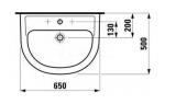 Раковина подвесная LAUFEN PRO, 650х500 мм, 8.1095.3.000.104.1