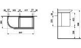 Тумба под раковину подвесная PALACE CASE FOR LAUFEN, 4.0153.1.075.464.1