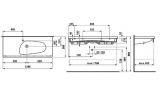 Раковина подвесная LAUFEN PALOMBA, 1200х500 мм, 8.1480.6.000.104.1