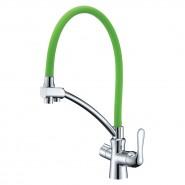 Смеситель для кухни с подключением к фильтру с питьевой водой Lemark Comfort, 225 мм, LM3070C-Green