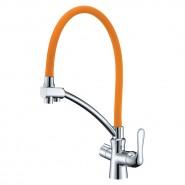 Смеситель для кухни с подключением к фильтру с питьевой водой Lemark Comfort, 225 мм, LM3070C-Orange