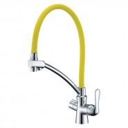 Смеситель для кухни с подключением к фильтру с питьевой водой Lemark Comfort, 225 мм, LM3070C-Yellow