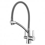 Смеситель для кухни с подключением к фильтру с питьевой водой Lemark Comfort, 225 мм, LM3071C-Gray