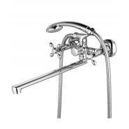Смеситель для ванны и душа Lemark Vista, 400 мм, LM7651C, , 5 517 руб., LM7651C, Lemark,Чехия, Смесители с длинным изливом