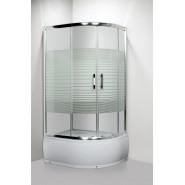 Душевое ограждение с поддоном Luxus L013 L LANG, 80х100 см, 35350
