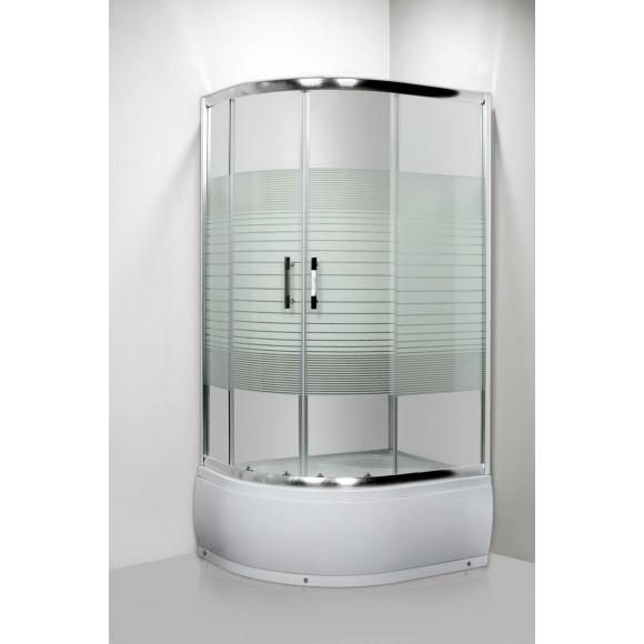 Душевое ограждение с поддоном Luxus L013 R LANG, 80х100 см, 35351