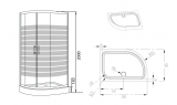 Душевое ограждение с поддоном Luxus L014 L NEVADA, 80х120 см, 35352
