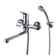 Смеситель для ванны Milardo Nelson, 258 мм, NELSB00M02, , 5 490 руб., NELSB00M02, Milardo, Смесители для ванны и душа