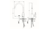 Смеситель для кухни Milardo Niagara, 189 мм, NIASB00M05