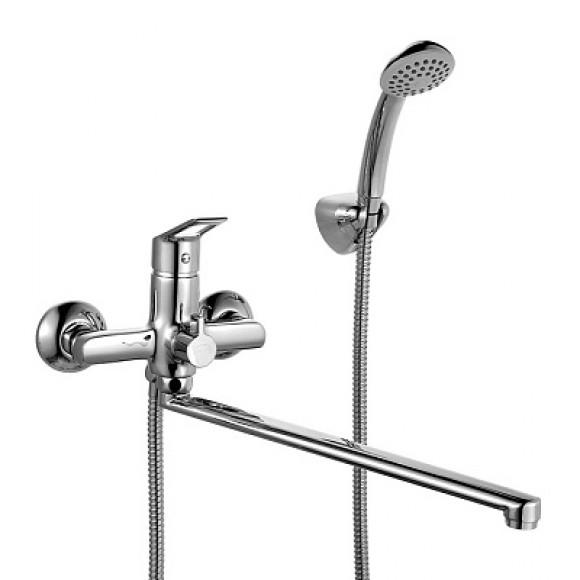 Смеситель для ванны Milardo Amur, 408 мм, AMUSBLCM10
