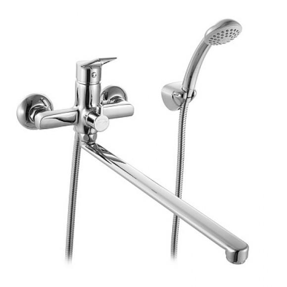 Смеситель для ванны Milardo Ukon, 408 мм, UKOSBLCM10