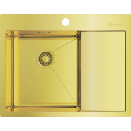 Мойка Akisame 65-LG-L Omoikiri, 650х510 мм, 4973083, , 41 299 руб., 4973083, Omoikiri, Мойки из нержавеющей стали