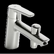 Cмеситель для ванны и душа Oras Saga, 164 мм, 3946F, , 8 254 руб., 3946F, Oras, Смесители на борт ванны