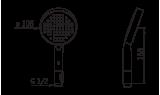 Ручной душ Oras Hydra, 105 мм, 242080