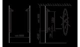 Душевая панель Oras 6 V Electra, 75 мм/1250 мм, 6661F