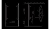 Душевая панель Oras 6 V Electra, 75 мм/1250 мм, 6664F