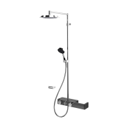 Смеситель с верхним душем rain shower 3 V Oras Signa, 238 мм/1225 мм, 6392U-15, , 110 012 руб., 6392U-15, Oras, Душевые стойки со смесителем