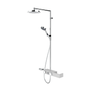 Смеситель с верхним душем rain shower Oras 3 V Signa, 238 мм/1225 мм, 6392U-11, , 91 685 руб., 6392U-11, Oras, Душевые стойки со смесителем