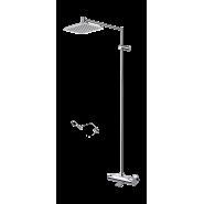 Смеситель с верхним душем rain shower Oras Optima, 197х257 мм/1200 мм, 7191U, , 63 568 руб., 7191U, Oras, Душевые стойки со смесителем