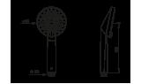 Ручной душ Oras Optima, 94 мм, 272020