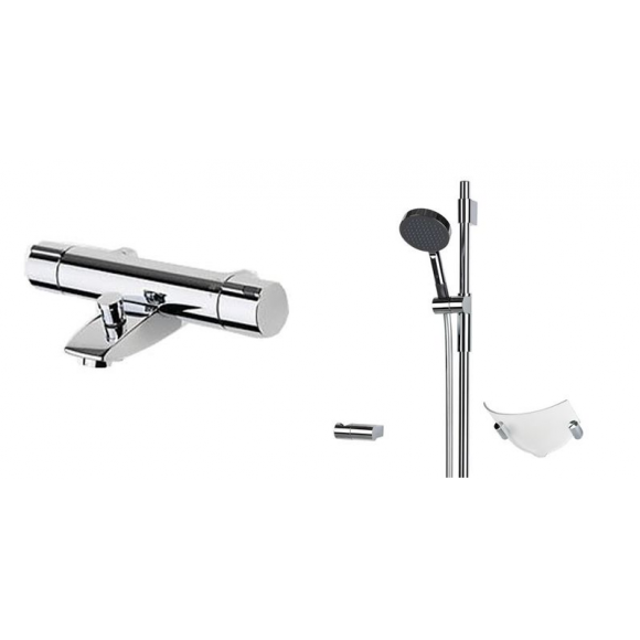 Смеситель для ванны и душа с комплектом Oras Cubista, 95 мм/700 мм, 2879U