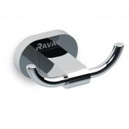 Крючок двойной CR 100.00 Ravak Chrome,  X07P186, , 1 470 руб., X07P186, Ravak, Аксессуары для ванной комнаты
