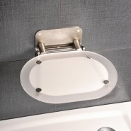 Сиденье для душа CHROME CLEAR/STAINLESS Ravak OVO-Chrome, B8F0000029, , 20 942 руб., B8F0000029, Ravak, Аксессуары для ванной комнаты