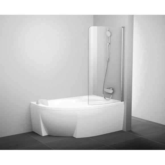 Шторка для ванны CVSK1 ROSA 160/170 L Ravak Chrome, 7QLS0U00Y1