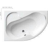 Ванна акриловая правая Ravak Rosa, 160х105, CL01000000, , 48 810 руб., CL01000000, Ravak, Ванны  акриловые асимметричные
