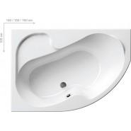 Ванна акриловая левая Ravak Rosa, 140х105, CI01000000