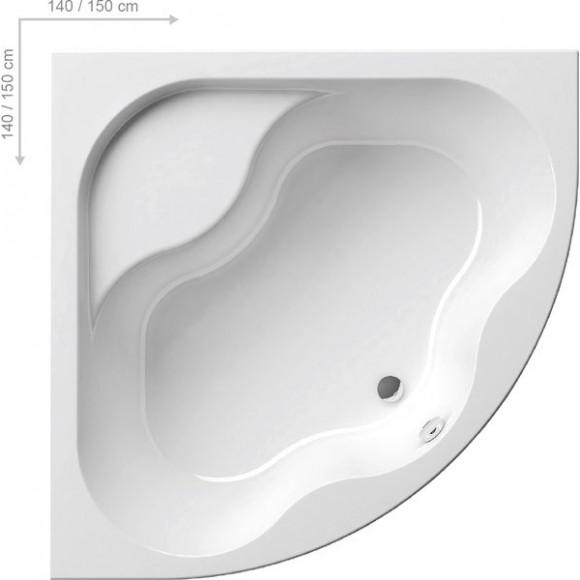 Ванна акриловая угловая Ravak Gentiana, 140х140, CF01000000