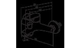 Смеситель для ванны и душа Red Blu by Damixa Origin Balance, 106 мм, 791000000