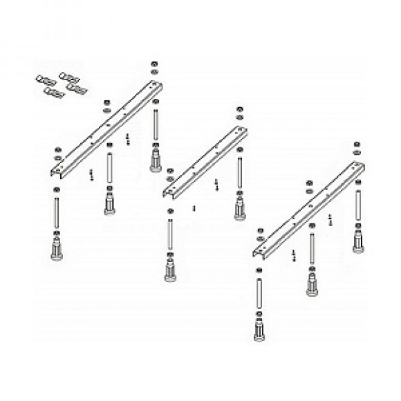 Опорные конструкции для поддонов Legset Basel 451 Riho, POOTSET69