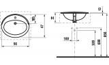 Раковина встраиваемая Roca Adora, 56 см, 327203000