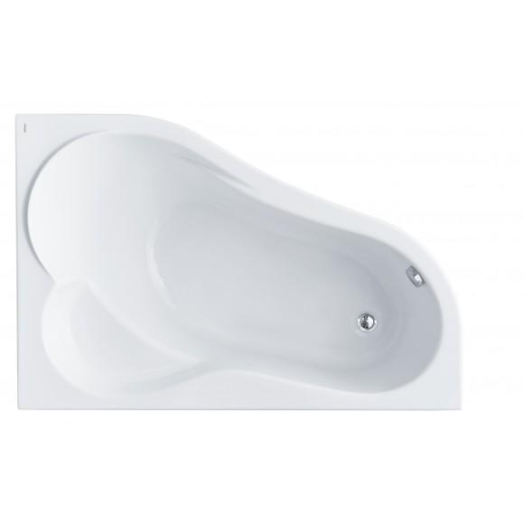 Ванна акриловая правосторонняя с аэрогидромассажем Comfort Plus Santek Ибица XL, 160х100 см, 1.WH11.2.413