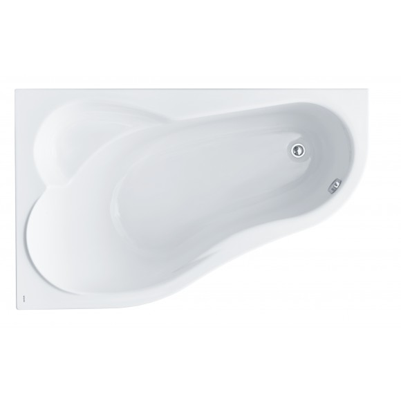 Ванна акриловая левосторонняя с аэрогидромассажем Comfort Plus Santek Ибица XL, 160х100 см, 1.WH11.2.412