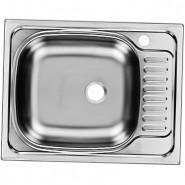 Раковина кухонная Классика Ukinox, 56х43,5 см, правая/левая, , 1 360 руб., CLM560.435 ---5K 1R, Ukinox, Мойки из нержавеющей стали