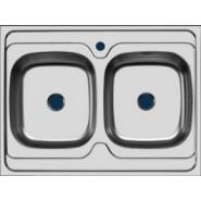 Раковина кухонная Стандарт Ukinox, 80х60 см, , 4 500 руб., 30495, Ukinox, Мойки из нержавеющей стали