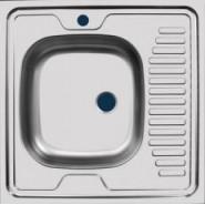 Раковина кухонная Стандарт Ukinox 60х60 см, правая, , 890 руб., STD600.600 ---4C 0R, Ukinox, Мойки из нержавеющей стали