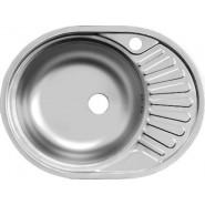 Раковина кухонная Фаворит Ukinox, 57,7х47,7 см, правая, , 1 513 руб., FAD577.447 --T6K 1R, Ukinox, Мойки из нержавеющей стали