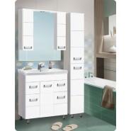 Зеркальный шкаф с подсветкой De Rossa Флора 800Т, 800х1000 мм, 1255, , 5 582 руб., 1255, De Rossa, Зеркальные шкафы