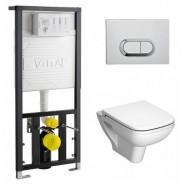 Комплект унитаза с системой смыва, стандартным сиденьем и панелью смыва VitrA S20, 9004B003-7204