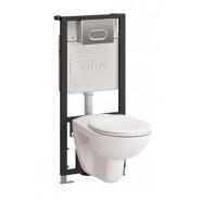 Комплект унитаза с системой смыва, стандартным сиденьем и панелью смыва VitrA Normus, 9773B003-7203