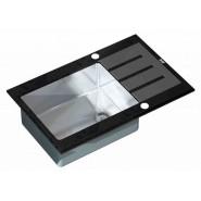Мойка для кухни ZorG Inox Glass, 780х510 мм, GL-7851-BLACK, , 29 750 руб., GL-7851-BLACK, Zorg, Мойки из нержавеющей стали